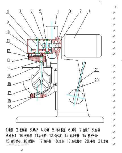 水泥搅拌机结构